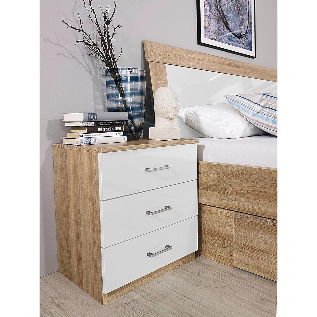 nachttisch hochglanz wei free kostenlose lieferung ins. Black Bedroom Furniture Sets. Home Design Ideas