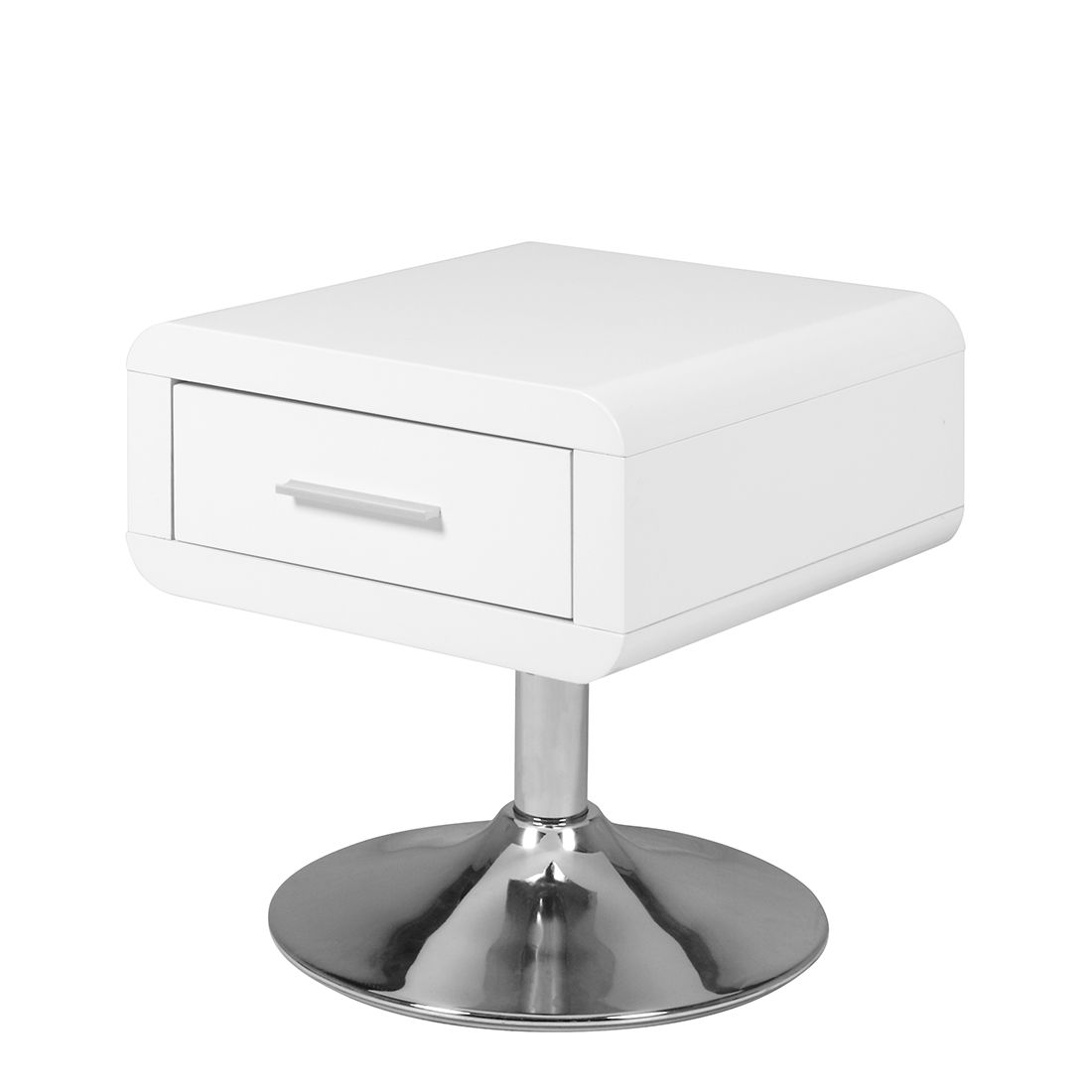 Roomscape table de chevet joker blanc brillant - Acheter table de chevet ...
