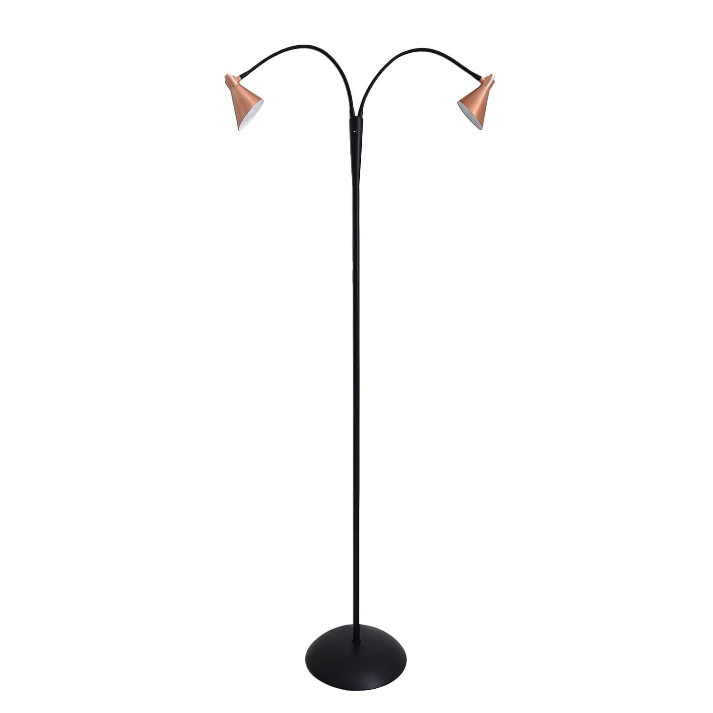 EEK A+, Lampadaire LED Cooper - Acier - 2 ampoules, Näve