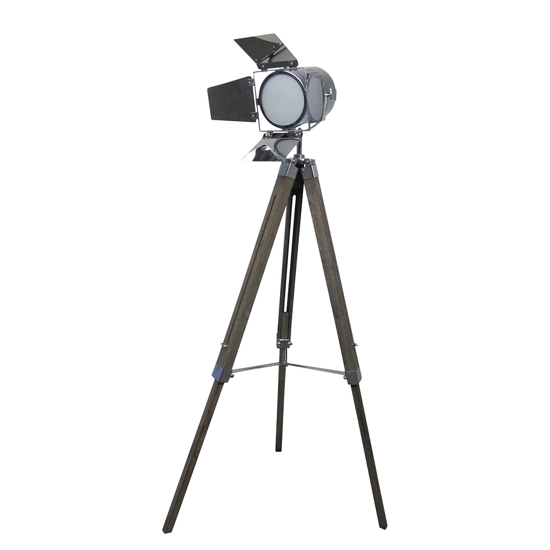 EEK A++, Lampadaire Tripod Copper - Chrome / Pin massif - 1 ampoule, Näve