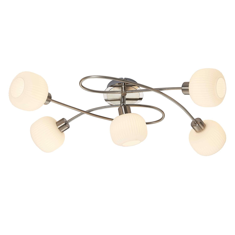 EEK A++, LED-Deckenstrahler Anica II - Glas / Eisen - 5, Nino Leuchten