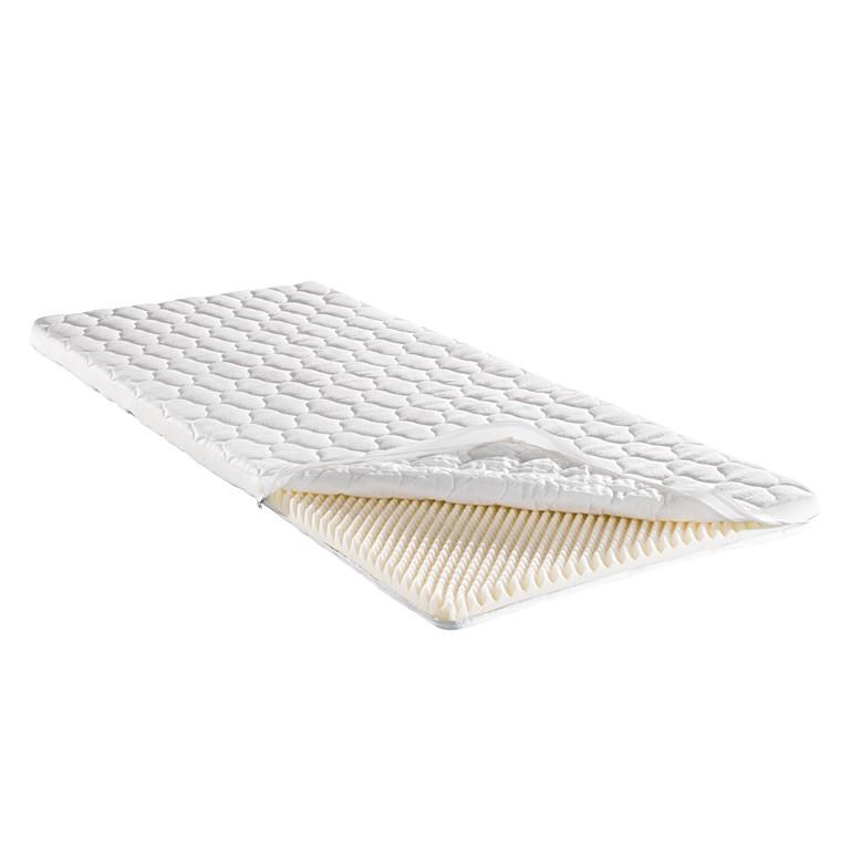 Materasso sottile in polistirene a struttura piramidale (Altezza: del nucleo 4 cm) Soft Sleep - 200 x 200cm, f.a.n.