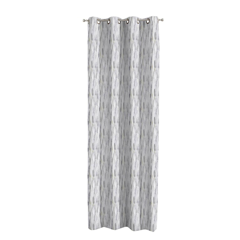 Lusgordijn Aquarelle - geweven stof - beige/grijs - 130x310cm, Dekoria