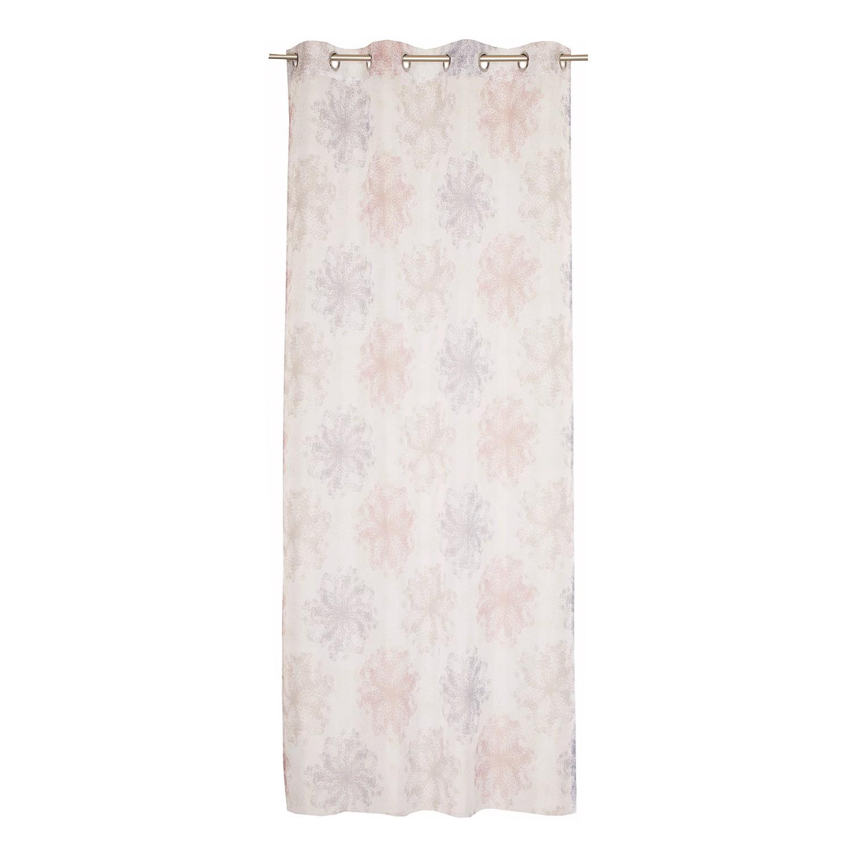 Gordijn Flakes - geweven stof - Beige/roze, Esprit