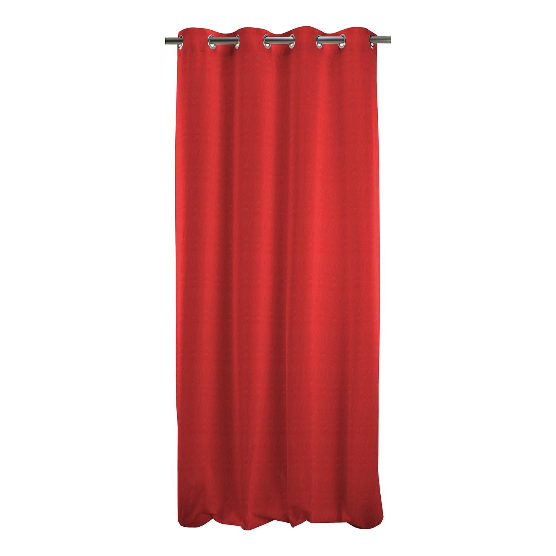 rideau illets torino tissu rouge apelt meubles en ligne. Black Bedroom Furniture Sets. Home Design Ideas