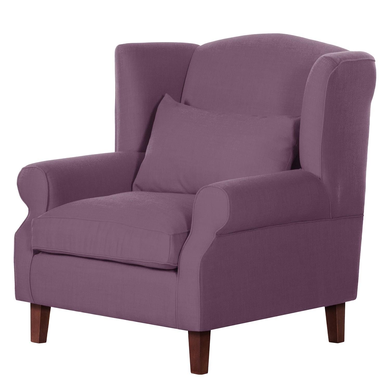 Fauteuil à oreilles Sofia - Tissu violet, Maison Belfort