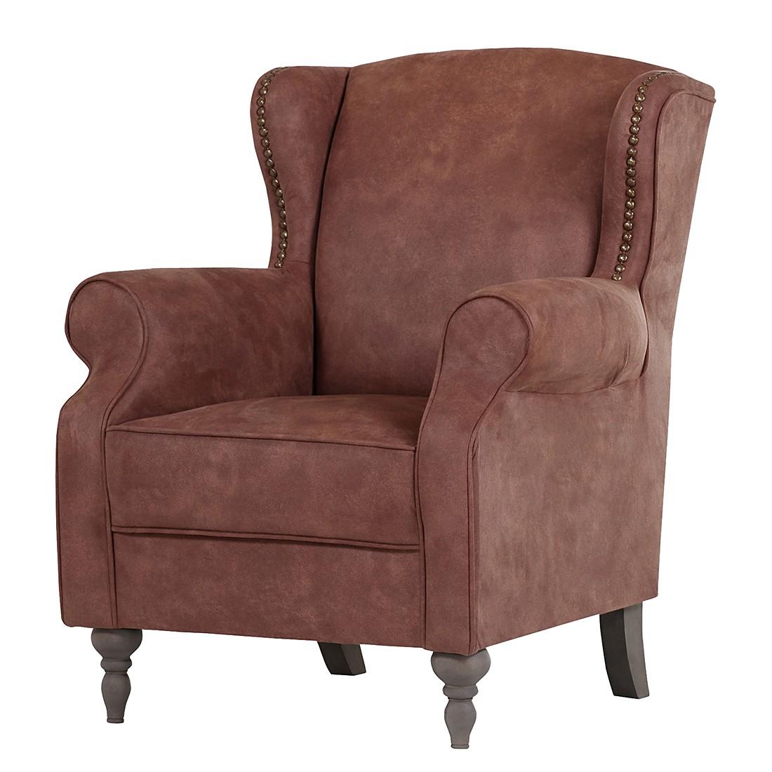 fauteuil oreilles cosimo i microfibre marron gris. Black Bedroom Furniture Sets. Home Design Ideas