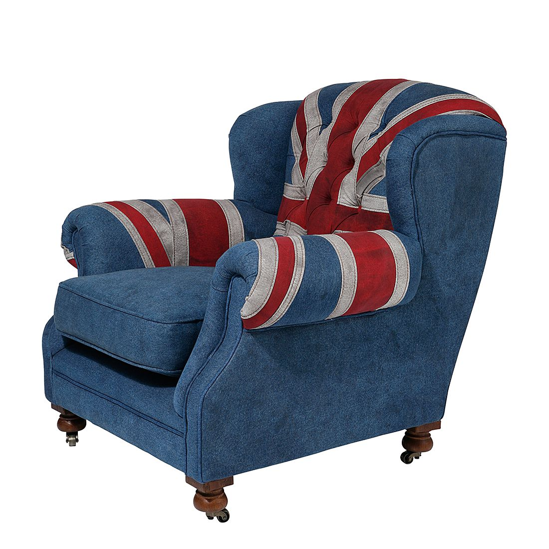 Oorfauteuil Grandfather Union Jack - spijkerstof, Kare Design