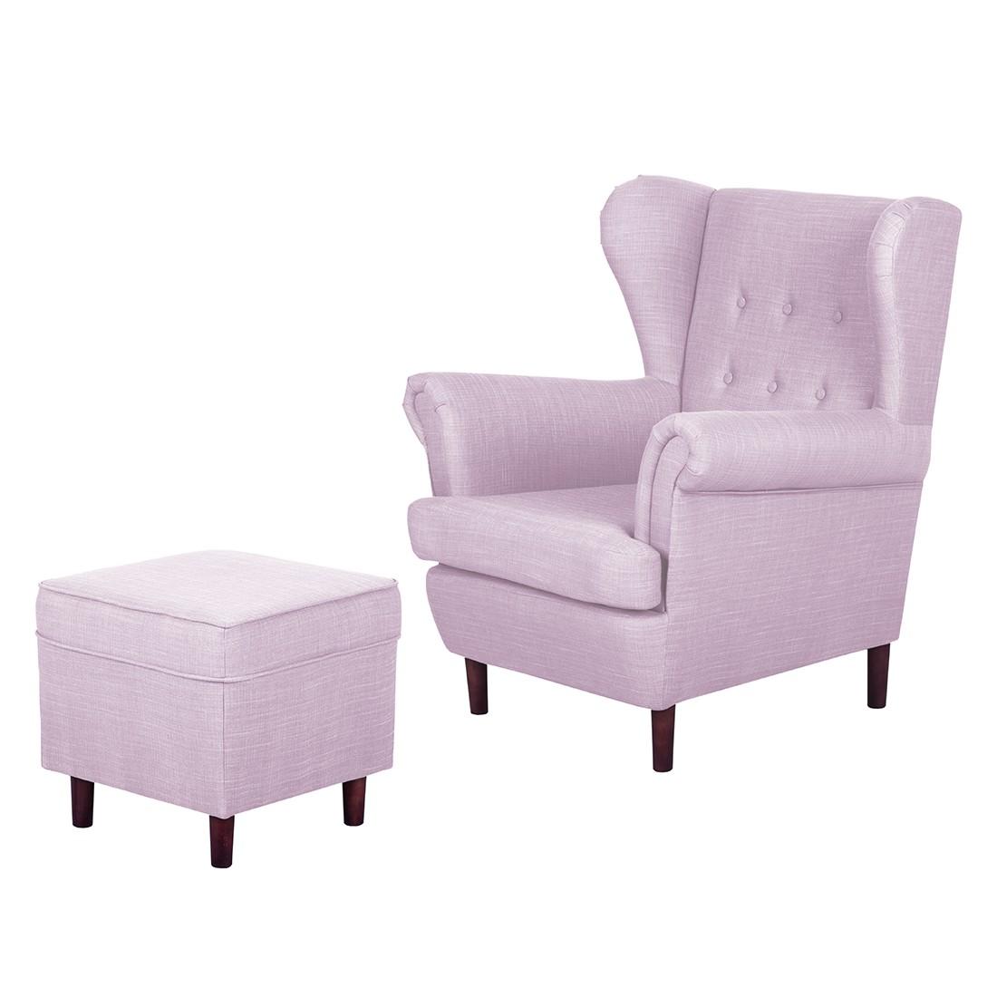 ohrensessel kaiapoi mit hocker webstoff violett maison belfort g nstig online kaufen. Black Bedroom Furniture Sets. Home Design Ideas