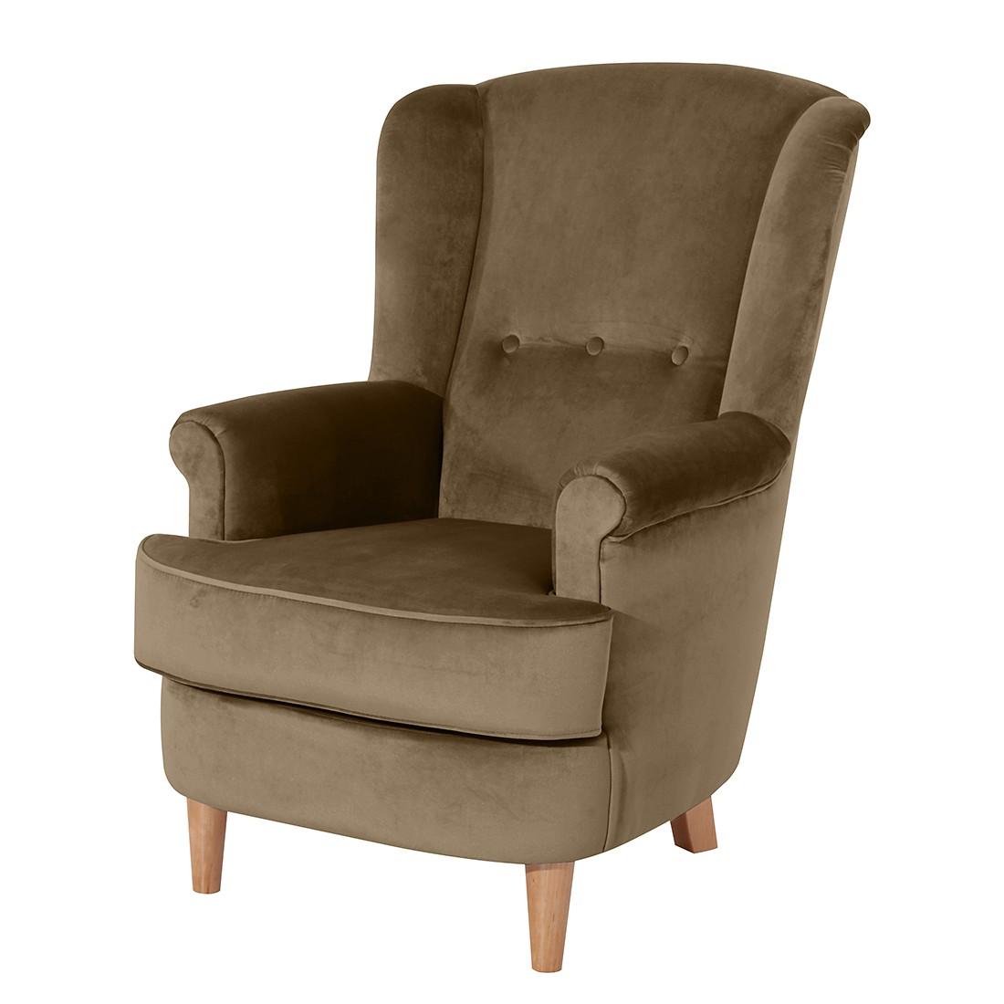 max winzer ohrensessel orthez samt karamell max winzer. Black Bedroom Furniture Sets. Home Design Ideas