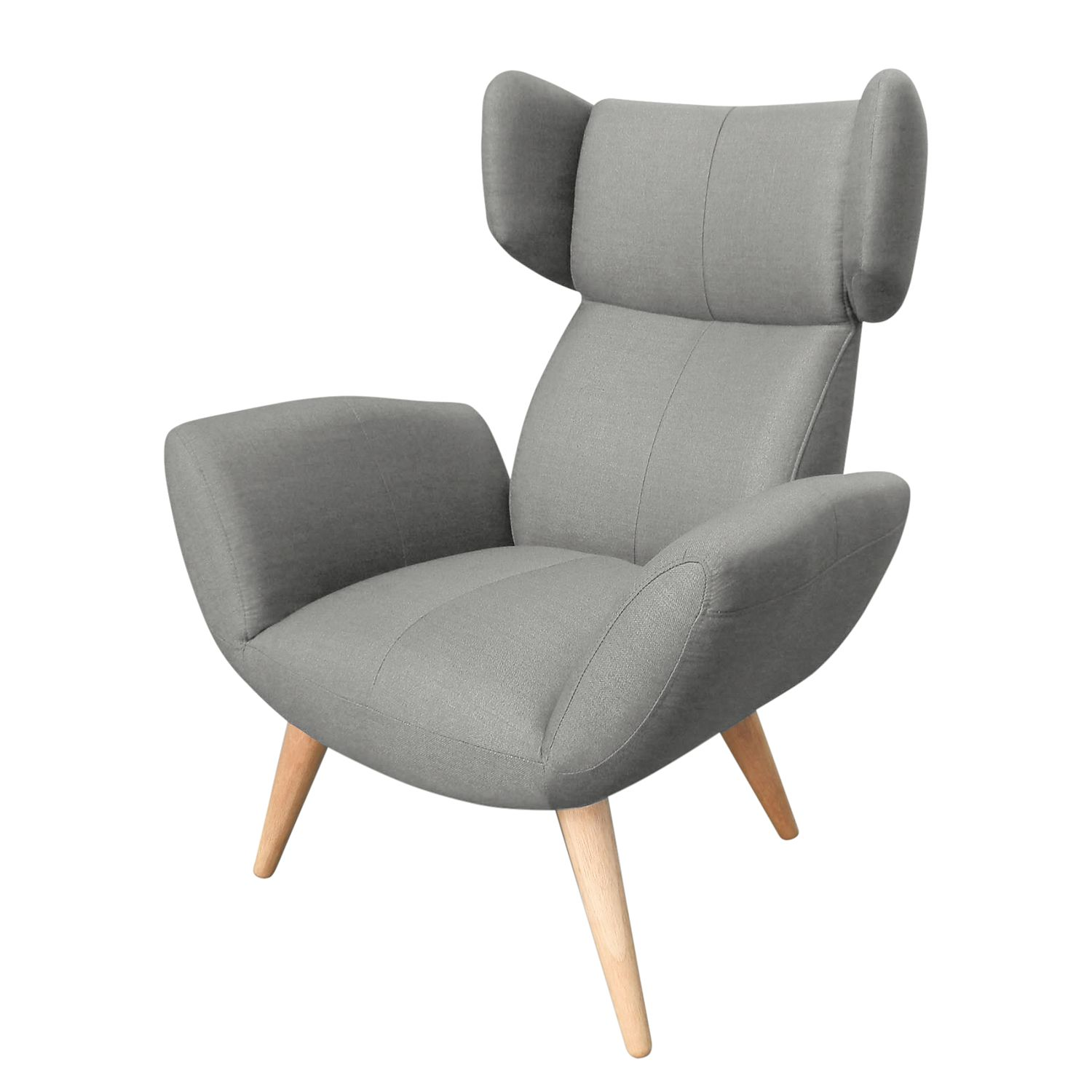 fauteuil oreilles tanacross tissu gris morteens par morteens chez home24 fr. Black Bedroom Furniture Sets. Home Design Ideas