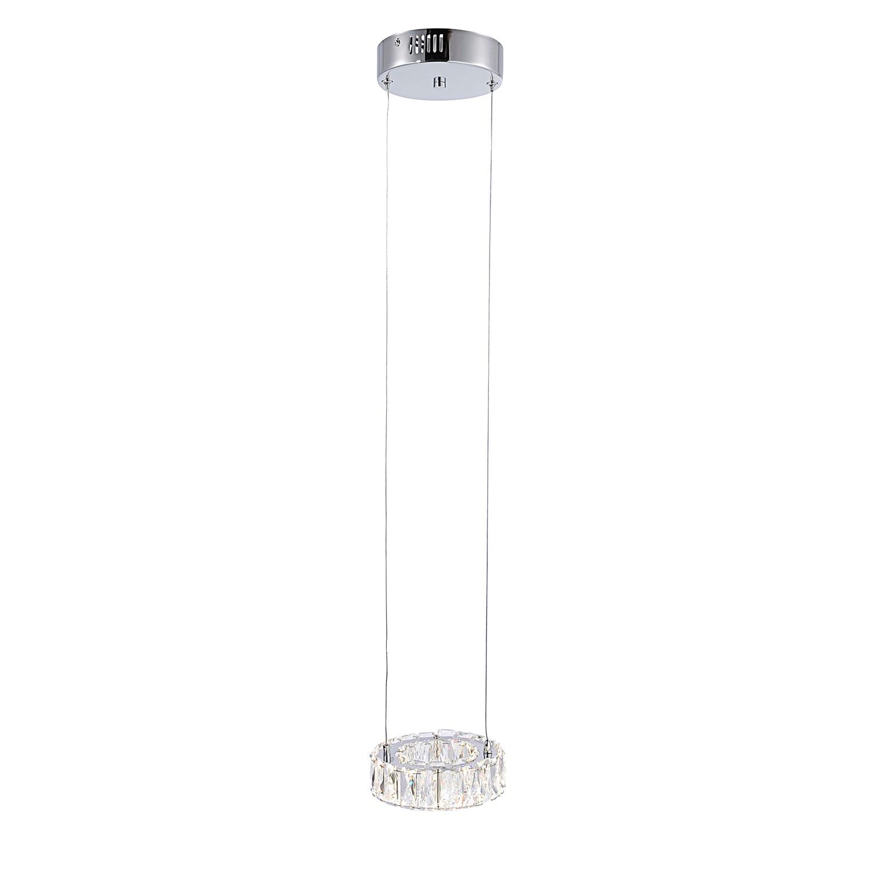 EEK A+, LED-Pendelleuchte Neil Gleam I - Kristallglas / Stahl - 1-flammig, Paul Neuhaus