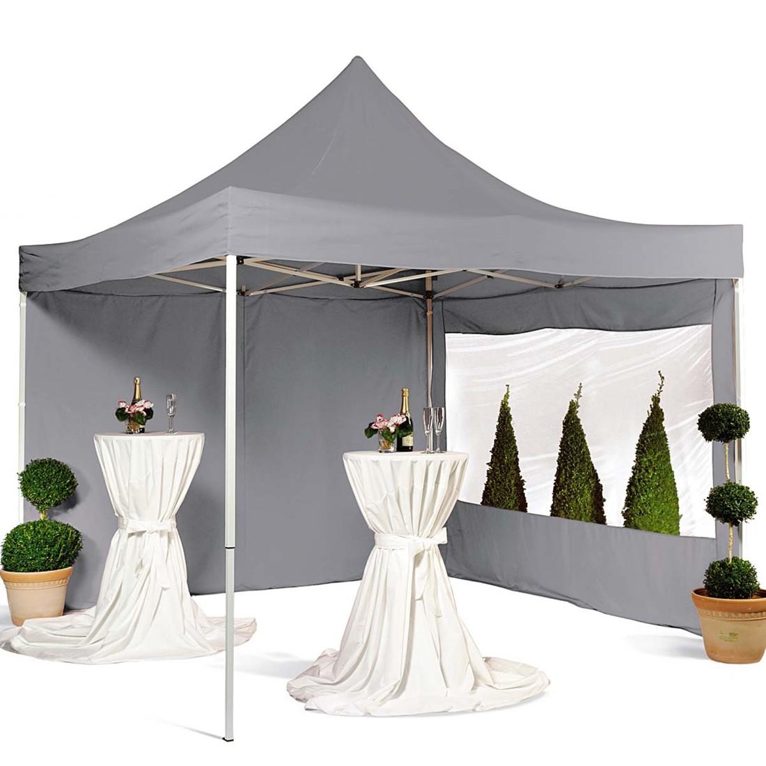 Pavillon 3x3m - Polyester/Eisen - Grau, Pure Day