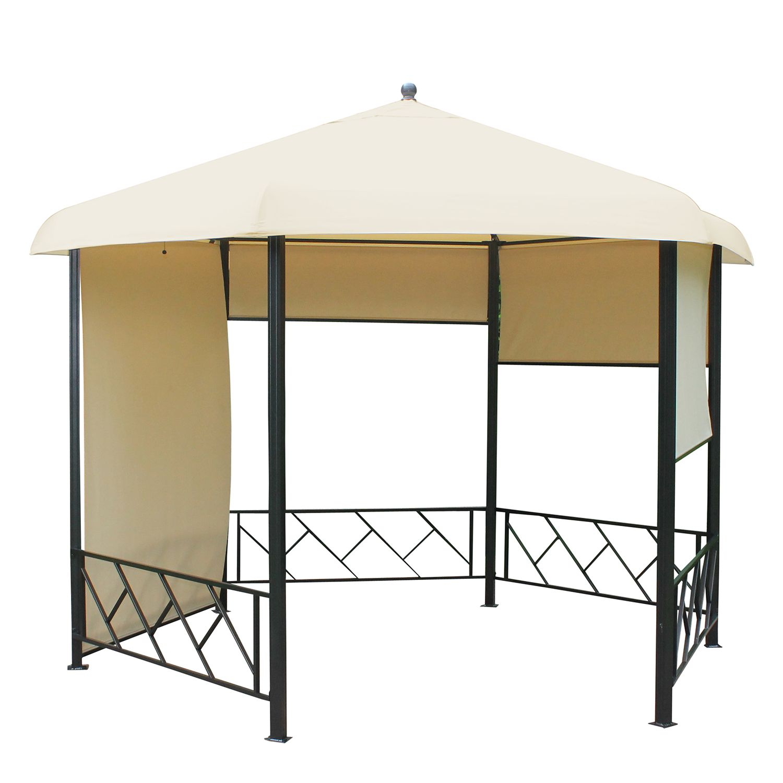 Pavillon Morne II - Aluminium/Textil - Anthrazit/Beige, Leco