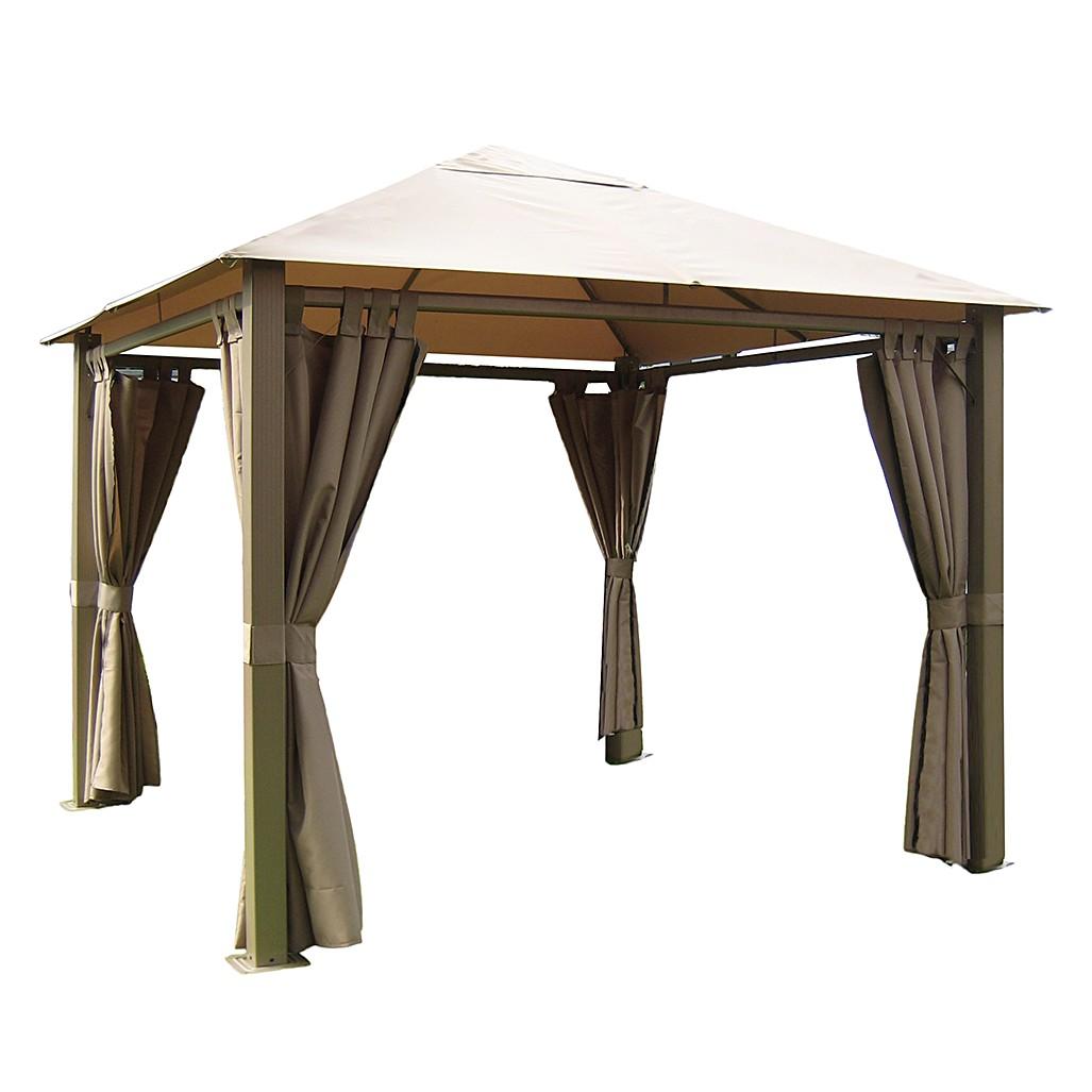 Pavillon Nomado - Aluminium/Stahl/Polyester - Taupe, Leco