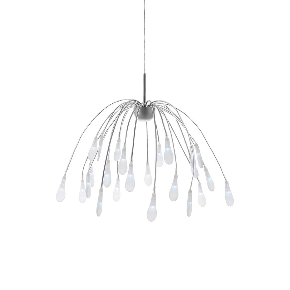 energie  A+, Hanglamp Akuma by Leuchten Direkt - ijzer/kunststof zilverkleurig 24 lichtbronnen, Leuchten Direkt