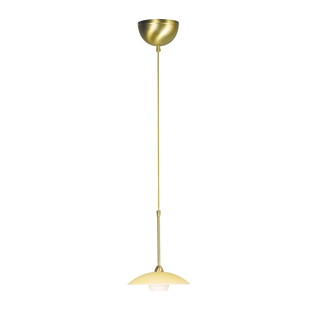 energie  A++, Hanglamp Aleppo - 1 lichtbron gebruind messingkleurig, Steinhauer