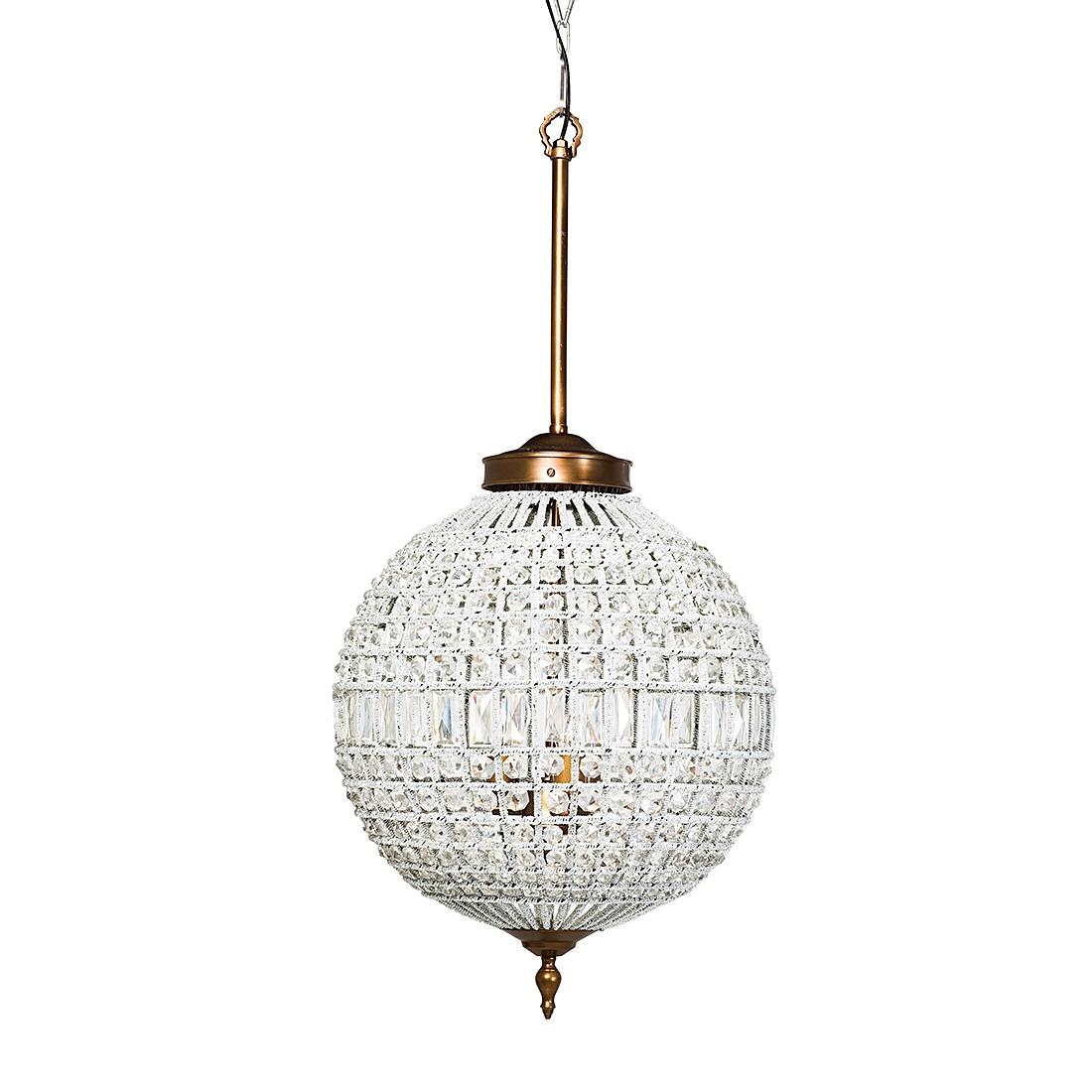 energie A++, Hanglamp Art Deco Crystal glazen steentjes-messing 50cm, Kare Design