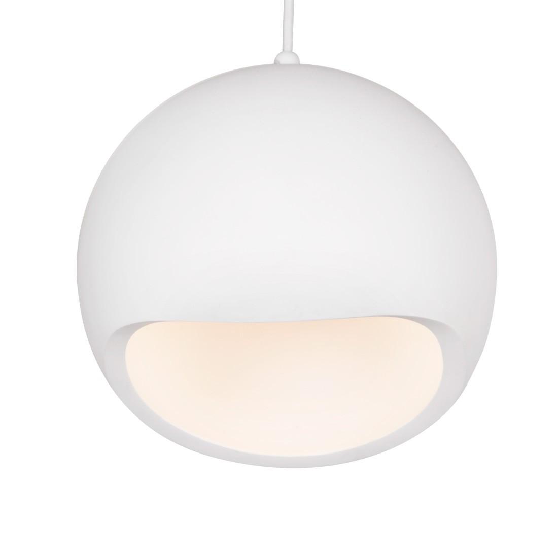 energie  A++, Hanglamp Aurora - gips - 1 lichtbron, Fredriks