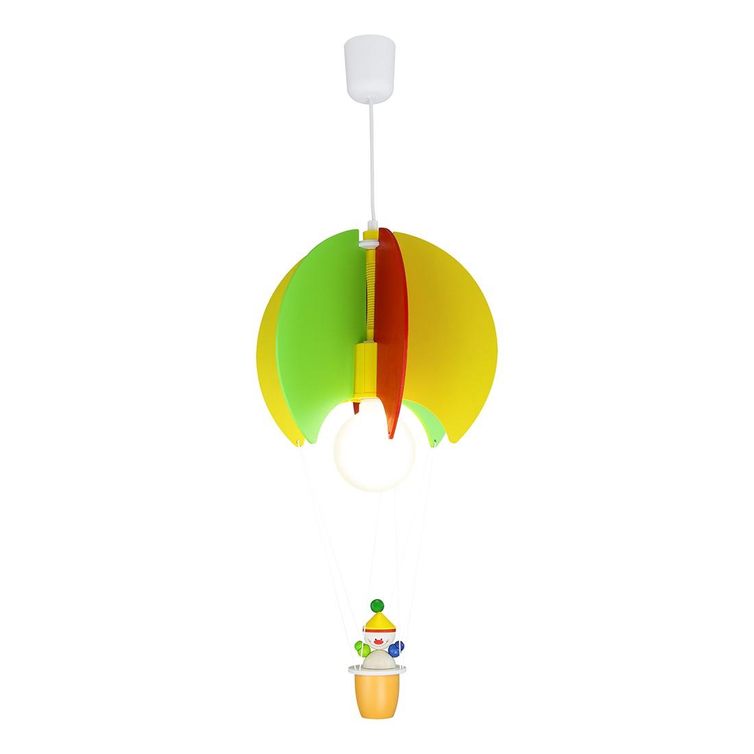 Home 24 - Eek a++, suspension mongolfière et clown - bois 1 ampoule, elobra
