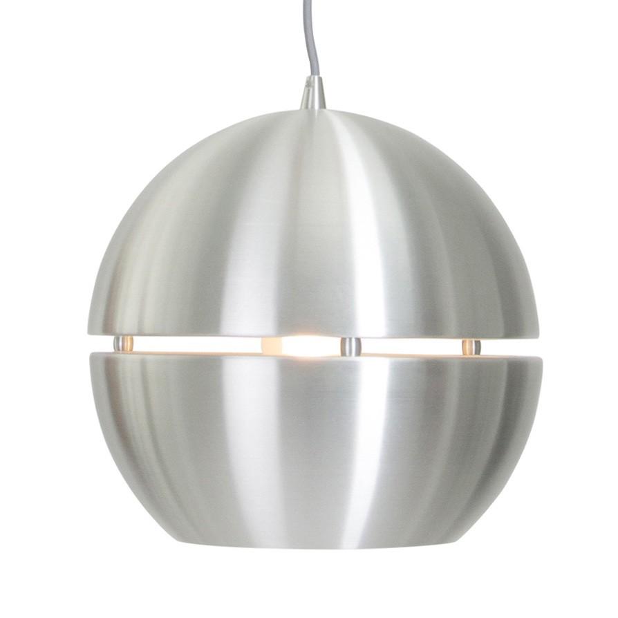 energie  A++, Hanglamp Bol - aluminium zilverkleurig 1 lichtbron, Steinhauer