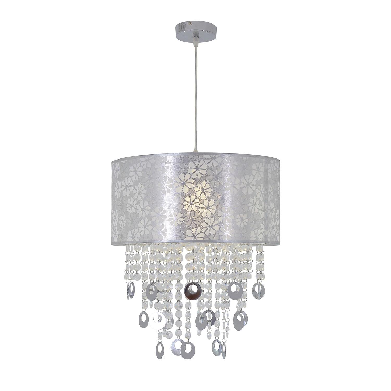energie  A++, Hanglamp Crystallo by Näve - stof/wit kunststof 1 lichtbron, Näve