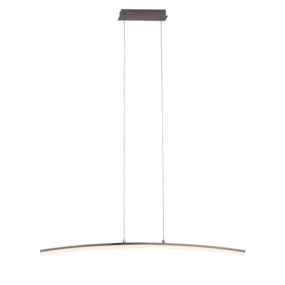 energie  A+, Hanglamp Curved - metaal/zilverkleurig kunststof 1 lichtbron, Brilliant