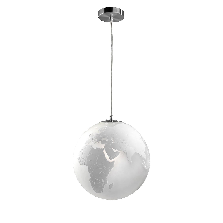 EEK A++, Pendelleuchte Earth - Glas - Weiß, Sompex