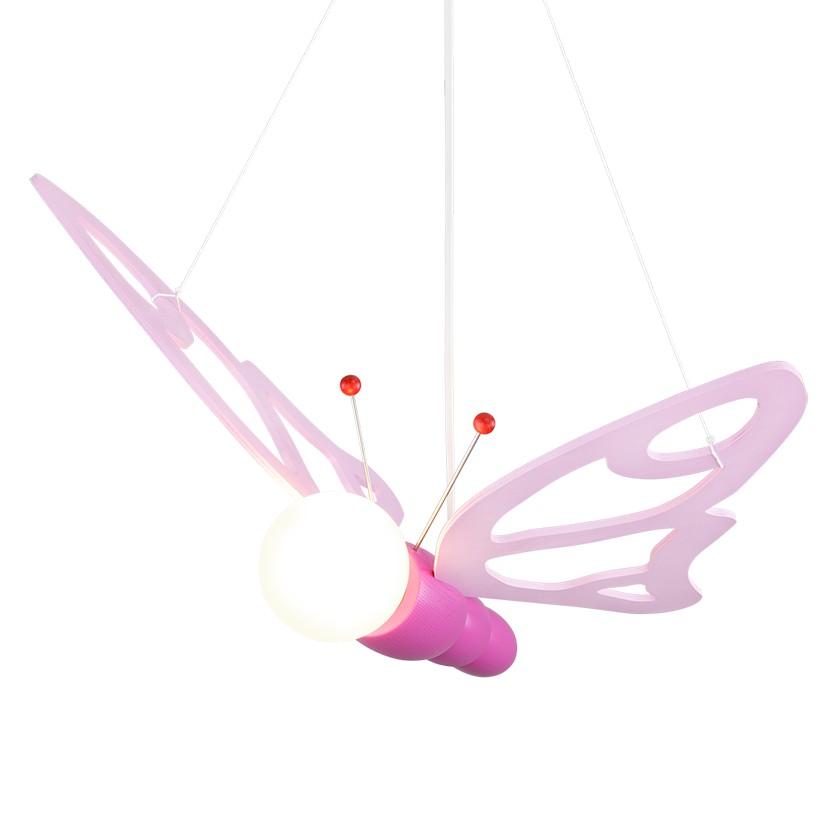 energie  A++, Hanglamp Vlinders - hout 1 lichtbron, Elobra