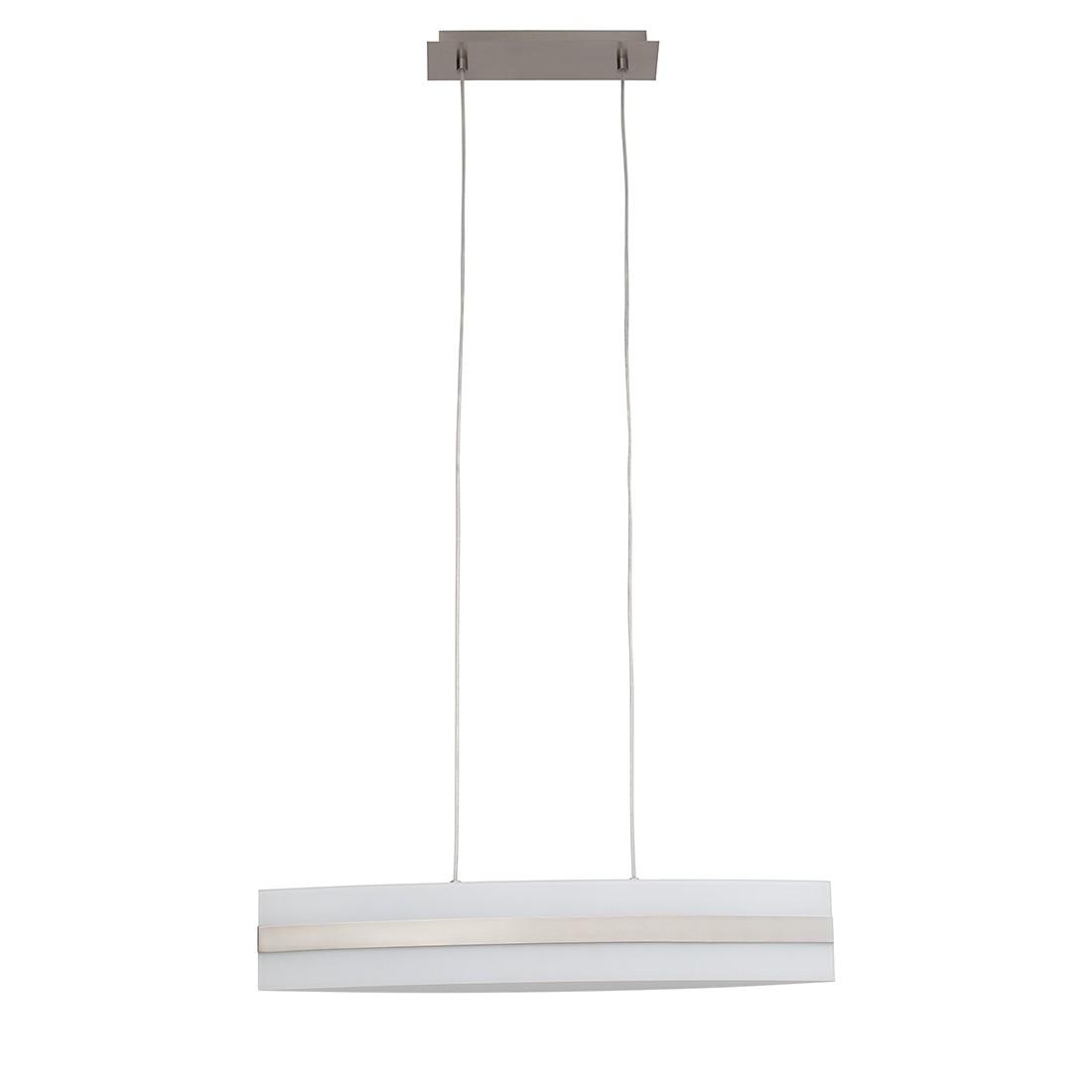 energie  A++, Hanglamp First - metaal/zilverkleurig glas 4 lichtbronnen, Brilliant