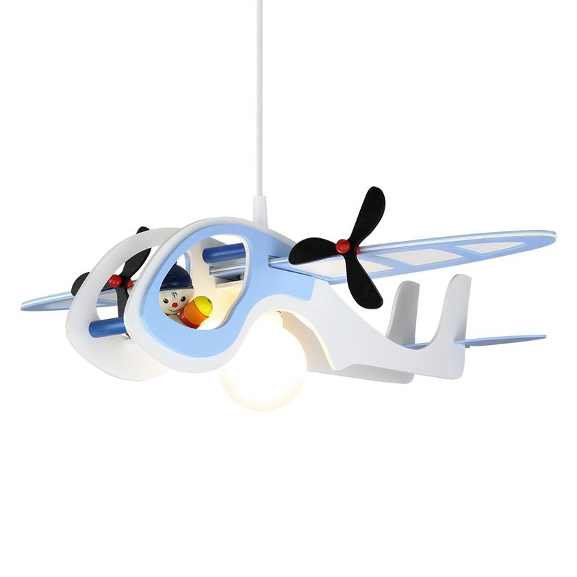energie  A++, Hanglamp Vliegtuig Kasper - hout 1 lichtbron, Elobra