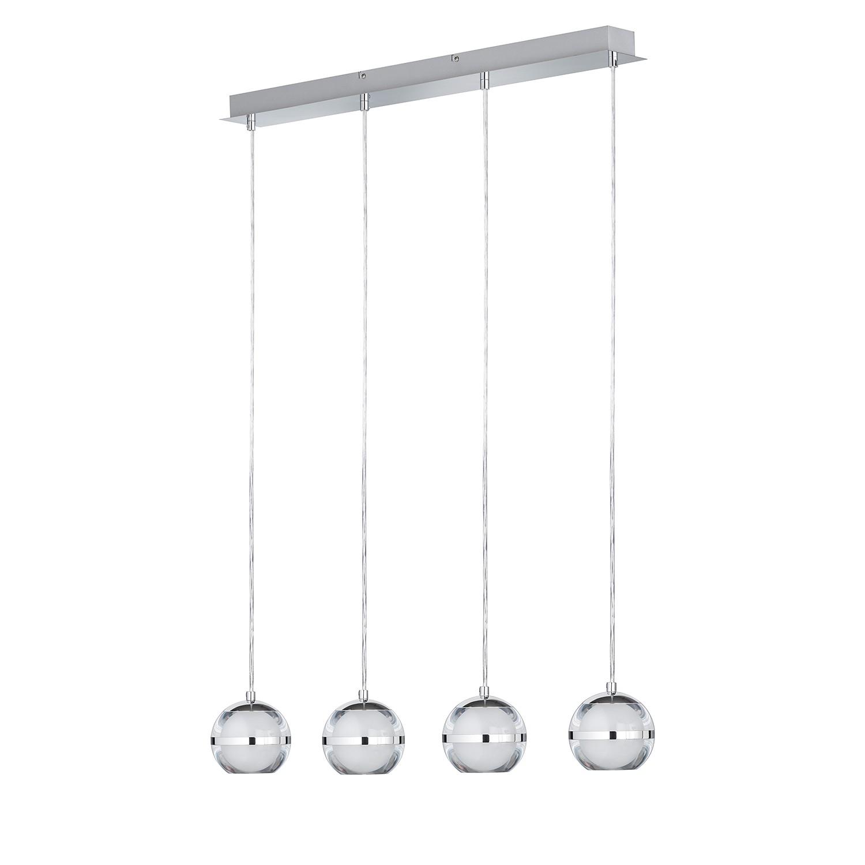 EEK A+, LED-Pendelleuchte Fulton - Metall / Acrylglas - 4, Wofi