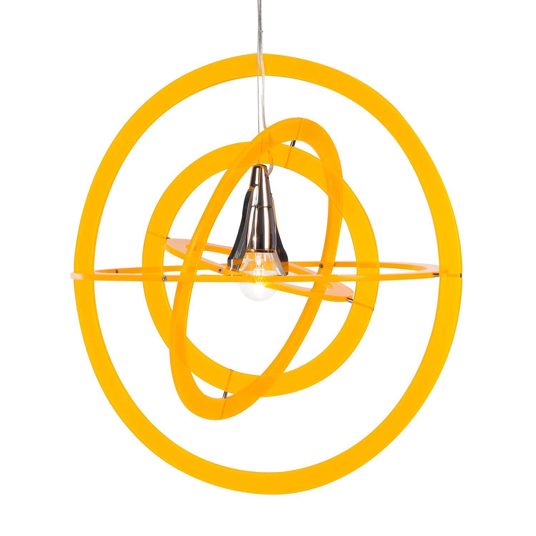 energie  A++, Hanglamp Gio by Micron - metaal/kunststof - zilverkleurig - 1 lichtbron, Lampadina