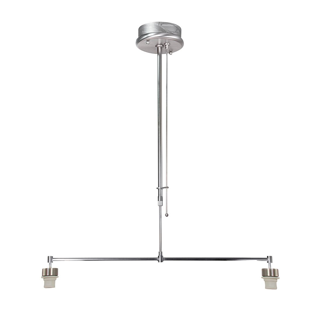 EEK A++, Suspension avec armatures Gramineus - 2 ampoules Nickel mat, Steinhauer