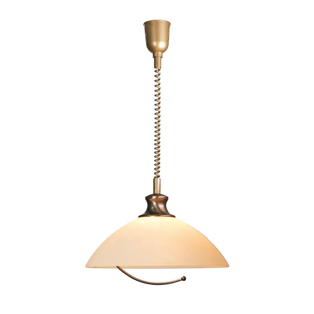 energie  A++, Hanglamp Greiggii - 1 lichtbron gebruind messingkleurig, Steinhauer