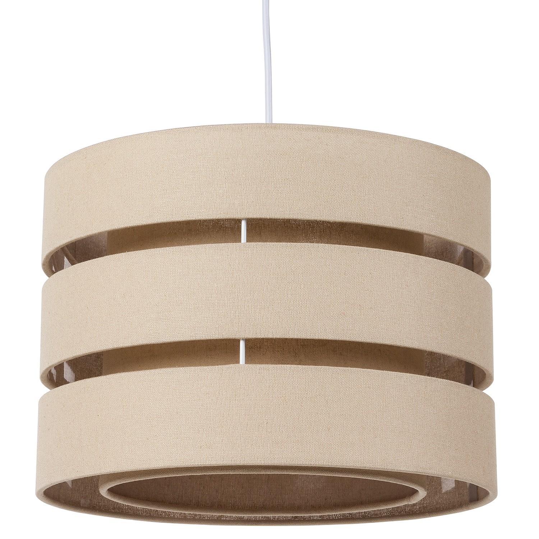 energie  A++, Hanglamp Hek - katoen/metaal - 1 lichtbron - Beige, Loistaa