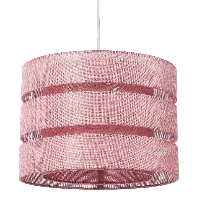 Pendelleuchte Hek - Baumwollstoff / Metall - 1-flammig - Rosa