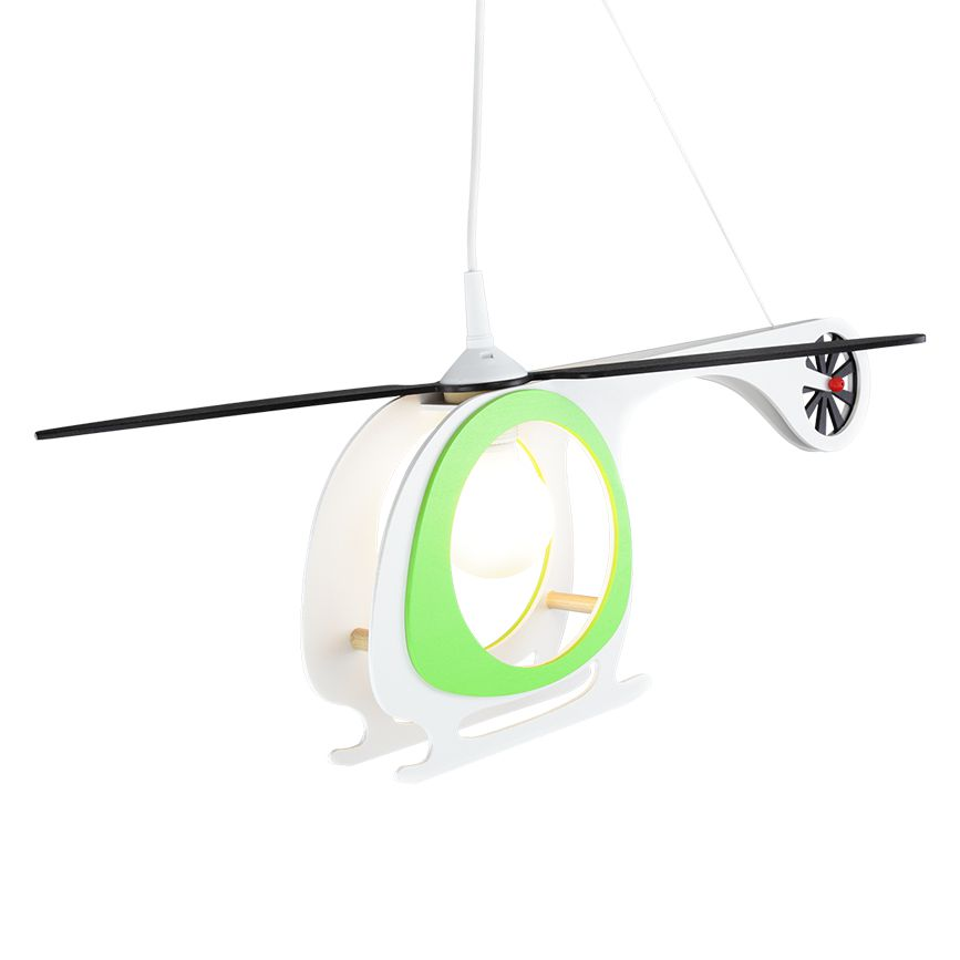 energie  A++_ Hanglamp Helicopter   hout 1 lichtbron_ Elobra