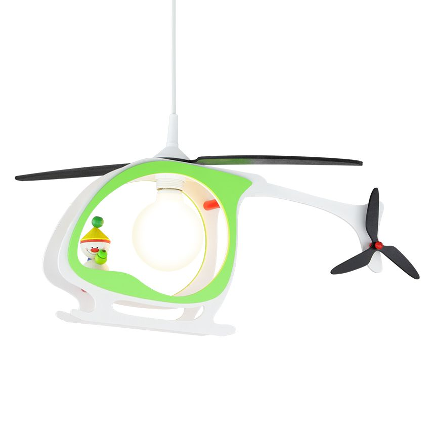 energie  A++_ Hanglamp Helicopter Kasper   hout 1 lichtbron_ Elobra