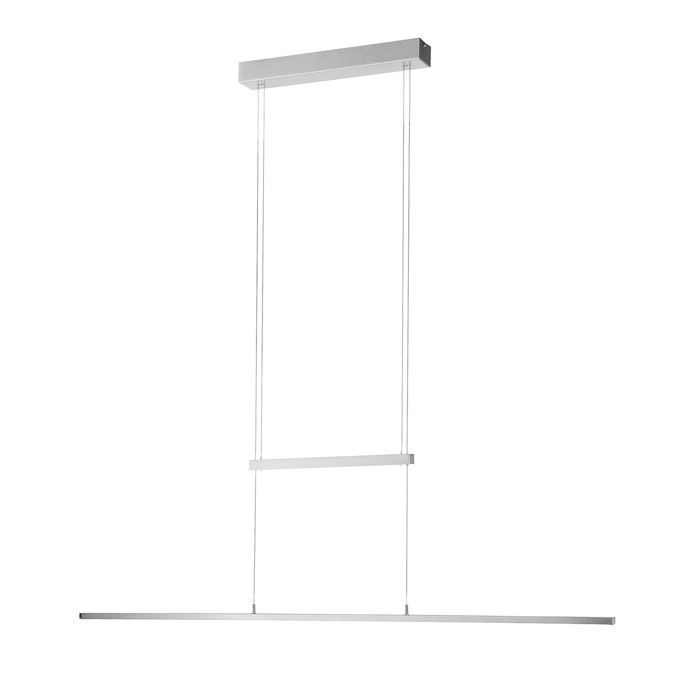 EEK A+, LED-Pendelleuchte Inigo - Eisen - Silber, Paul Neuhaus