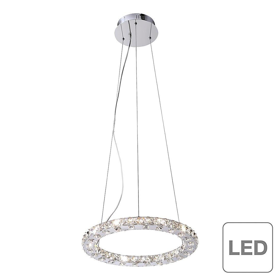 EEK A+, LED-Pendelleuchte Jola - Chrom/ Kristall - Silber, Paul Neuhaus