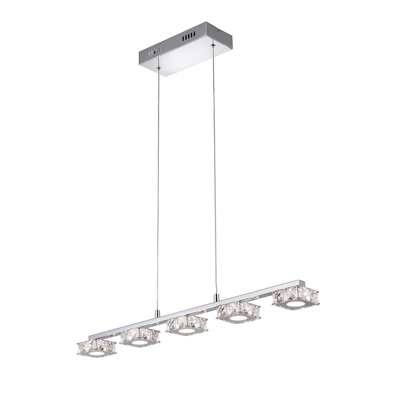 EEK A+, LED-Pendelleuchte Jola - Stahl/Eisen - Silber, Paul Neuhaus
