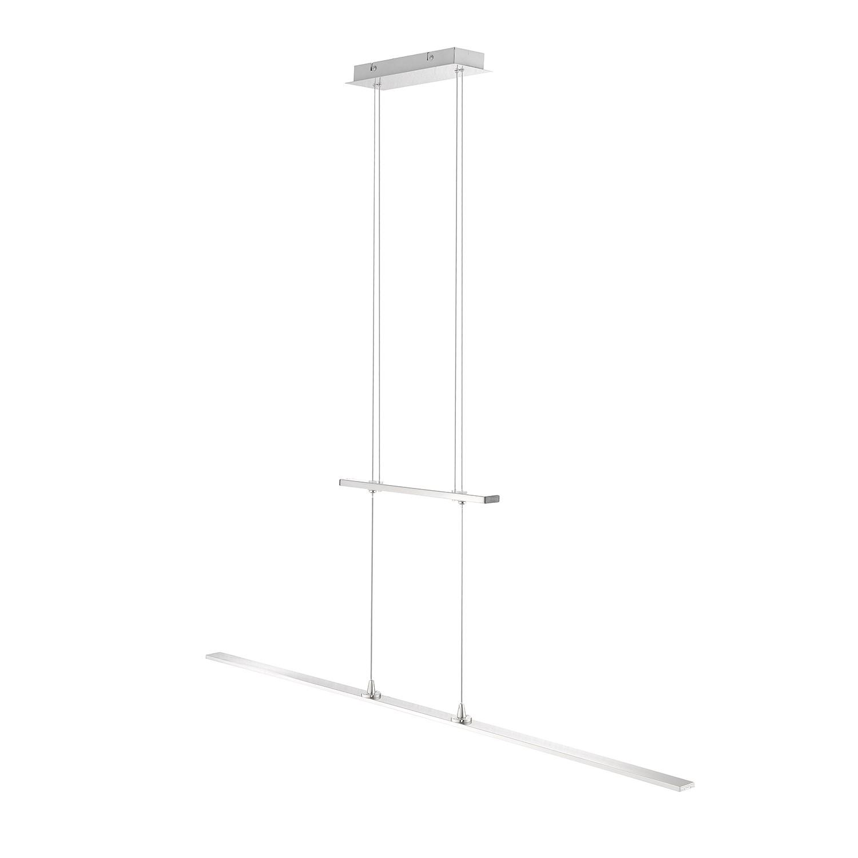 EEK A+, LED-Pendelleuchte Katara - Eisen - Silber, Paul Neuhaus