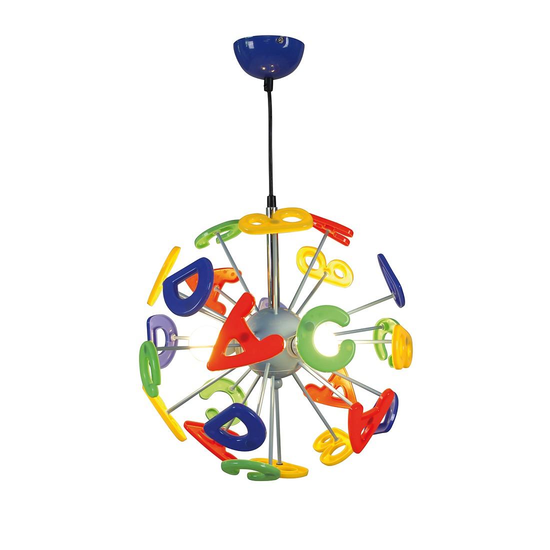 energie  A++, Hanglamp Kizi - kunststof/metaal meerkleurig 3 lichtbronnen, Näve