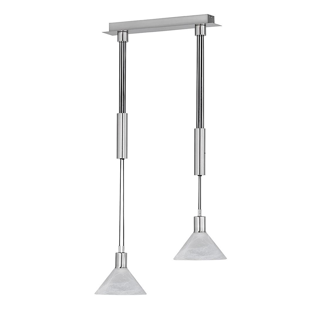 energie A+, Hanglamp MAINE metaal-glas 2 lichtbronnen, Action