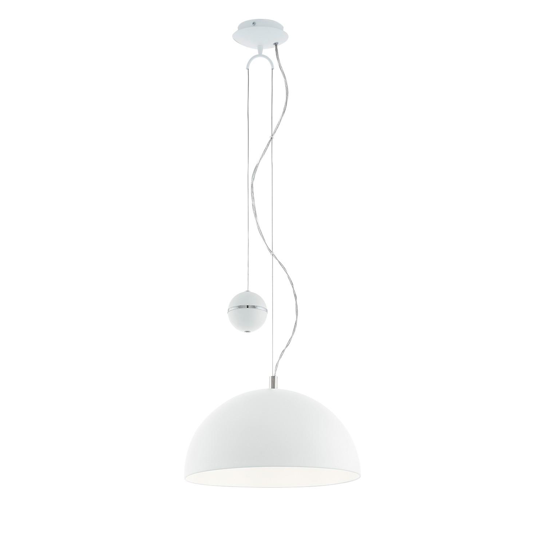 EEK A++, Pendelleuchte Pacheco - Stahl - 1-flammig - Weiß, Eglo