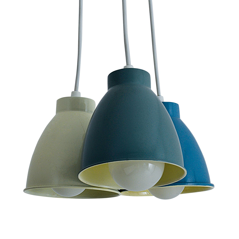 energie  A++, Hanglamp Pinhead by Näve - meerkleurig metaal 3 lichtbronnen, Näve