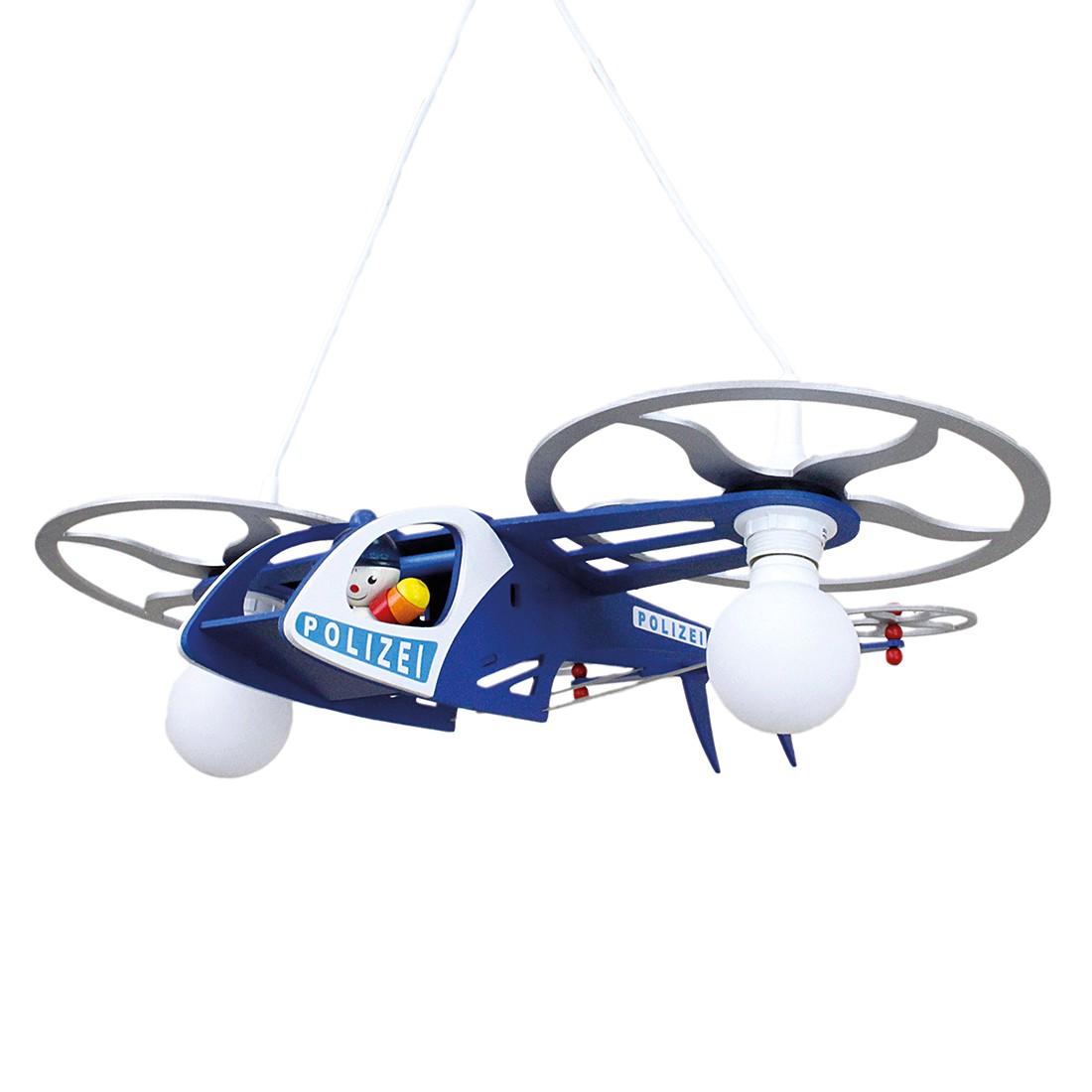 energie  A++, Hanglamp Politiehelicopter - hout 2 lichtbronnen, Elobra