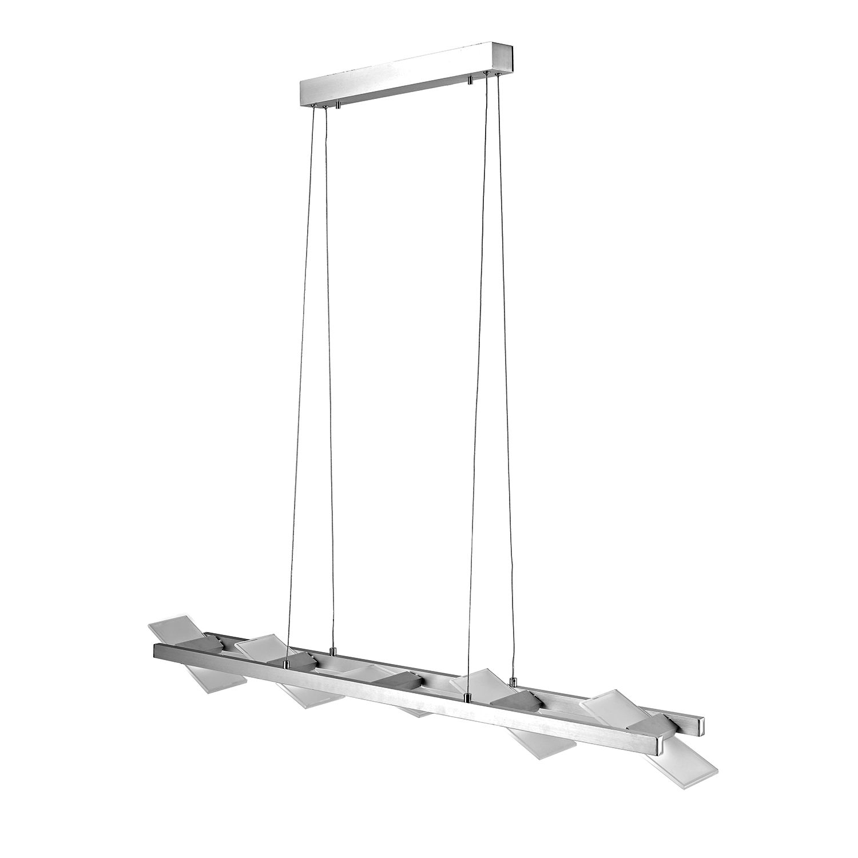 EEK A++, LED-Pendelleuchte Pukka - Aluminium - Silber, Paul Neuhaus