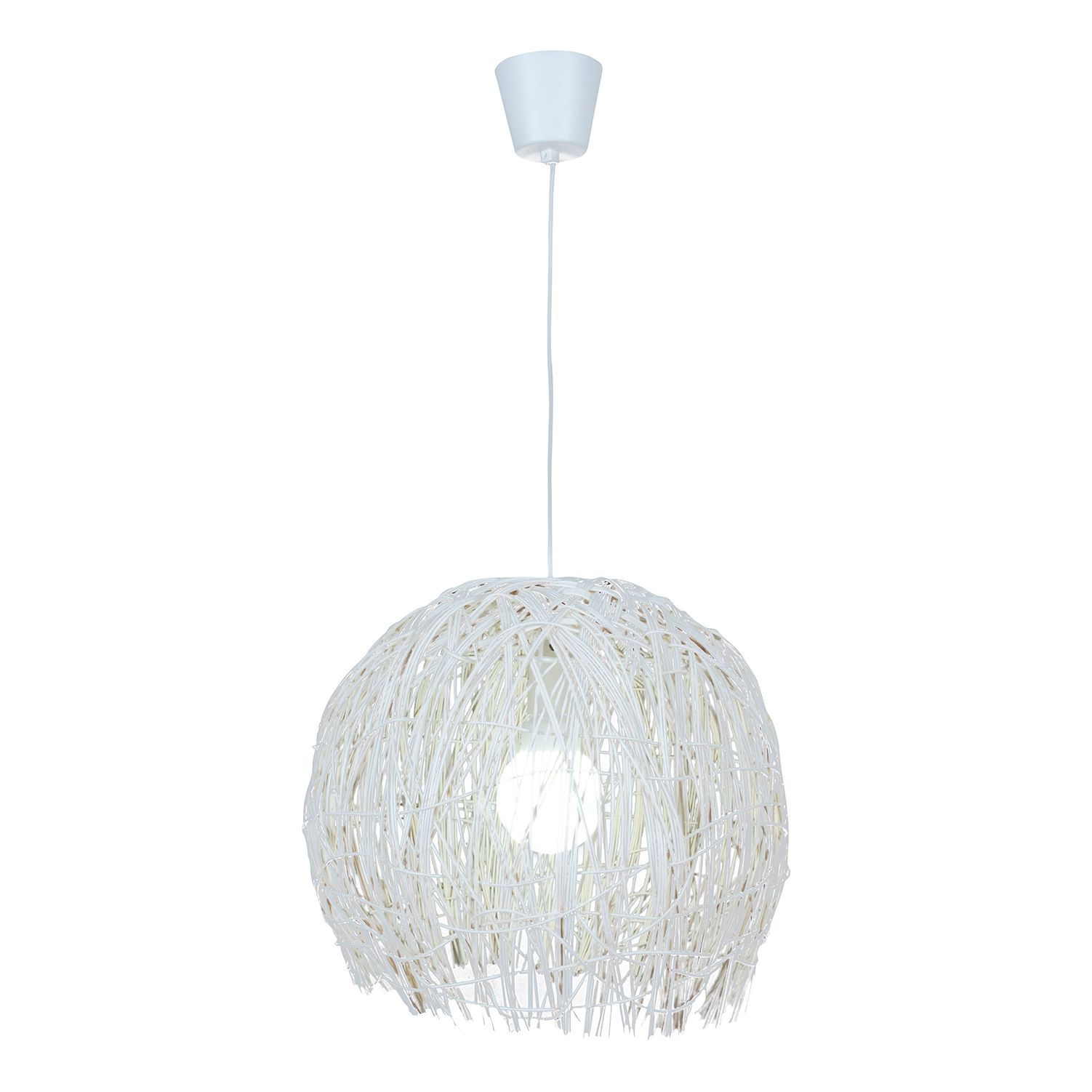 energie  A++, Hanglamp Ranya - wit 1 lichtbron, Näve